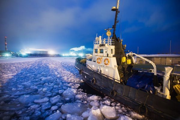 Sailing an Ice Breaker Boat in Finland
